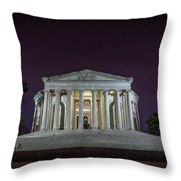 Jefferson At Night Throw Pillow
