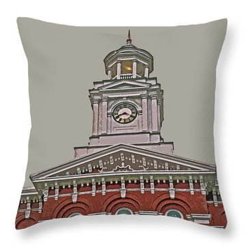 Jefferson County Courthouse Throw Pillow