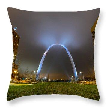 Jefferson Expansion Memorial Gateway Arch Throw Pillow