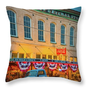 Jefferson General Store Throw Pillow by Inge Johnsson