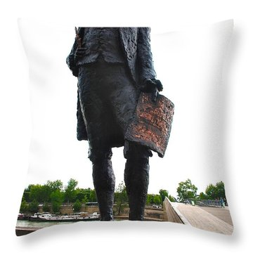 Jefferson In Paris Throw Pillow by Eric Tressler