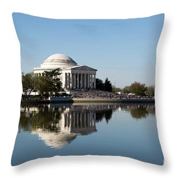 Jefferson Memorial Cherry Blossom Festival Throw Pillow