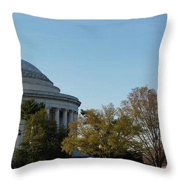 Jefferson Memorial Throw Pillow by Megan Cohen
