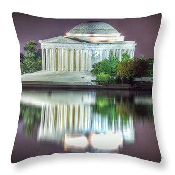 Jefferson Memorial, Night Throw Pillow