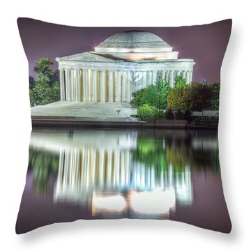 Jefferson Memorial, Night Throw Pillow