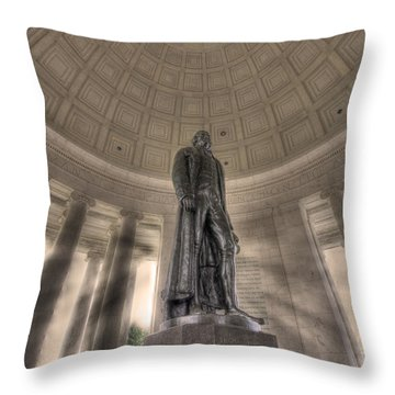 Jefferson Memorial Throw Pillow