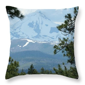 Throw Pillow featuring the photograph Jefferson Pines by Laddie Halupa