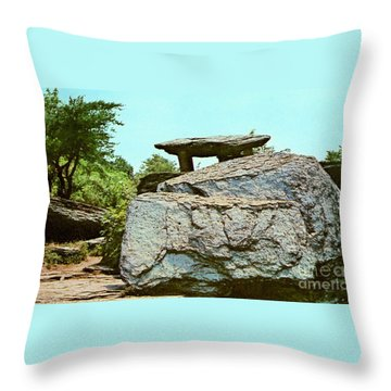 Jefferson Rock  Throw Pillow by Ruth  Housley