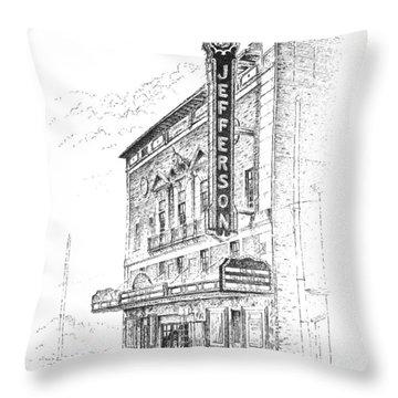 Jefferson Theatre Throw Pillow