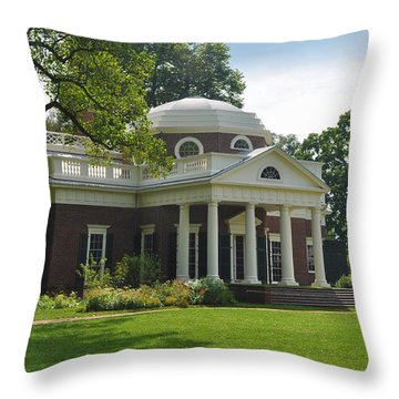 Jeffersons Monticello Throw Pillow by Bill Cannon
