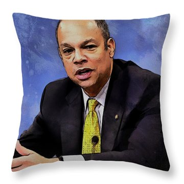Jeh Johnson Throw Pillow
