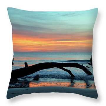 Throw Pillow featuring the photograph Jekyll Island Sunrise 2016a by Bruce Gourley