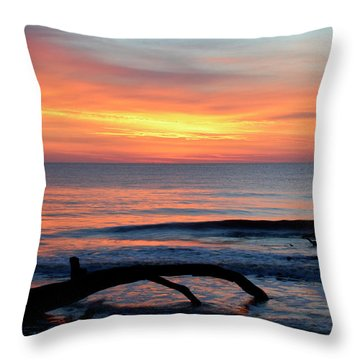 Throw Pillow featuring the photograph Jekyll Island Sunrise 2016b by Bruce Gourley