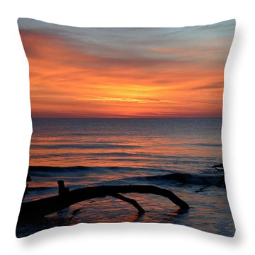 Throw Pillow featuring the photograph Jekyll Island Sunrise 2016c by Bruce Gourley