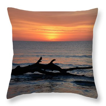 Throw Pillow featuring the photograph Jekyll Island Sunrise 2016d by Bruce Gourley