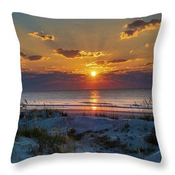 Throw Pillow featuring the photograph Jekyll Island Sunrise by Louis Dallara