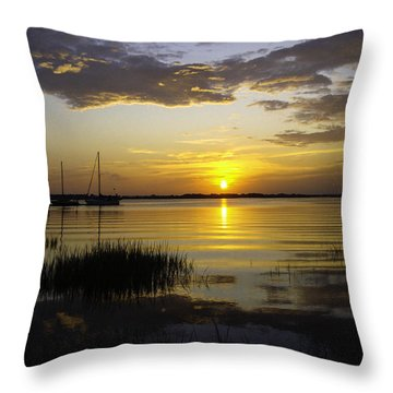 Jekyll Island Sunset Throw Pillow