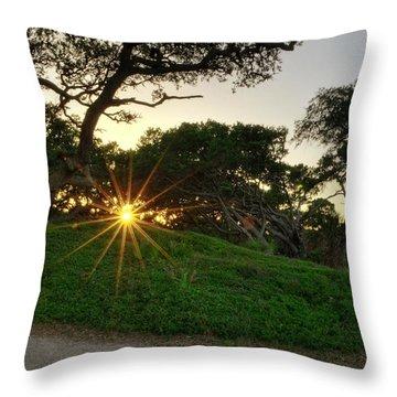 Jekyll Sunset Throw Pillow