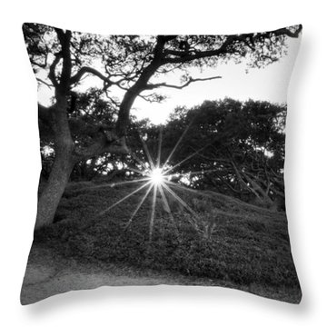 Jekyll Sunset In Black And White Throw Pillow
