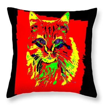 Jekyll The Cat Throw Pillow