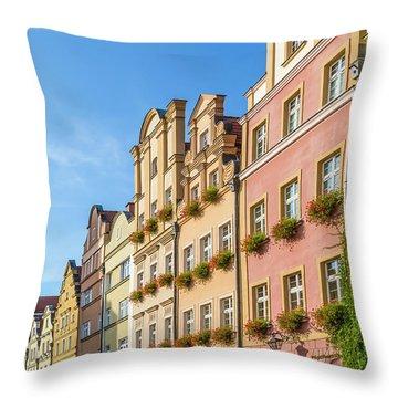 Jelenia Gora Baroque Tenement Houses With Arcades Throw Pillow