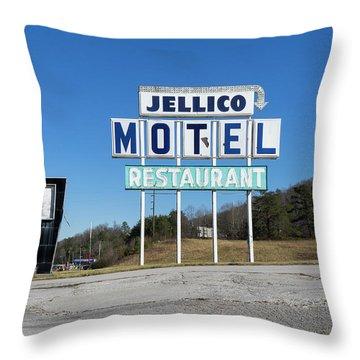 Jellico Motel Throw Pillow