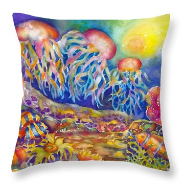 Jellies Throw Pillow
