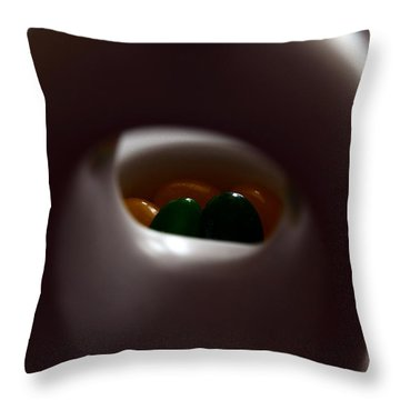 Jelly Bean Buddha Throw Pillow