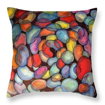 Jelly Beans Of Life Throw Pillow
