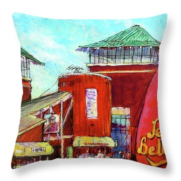 Jelly Belly Throw Pillow