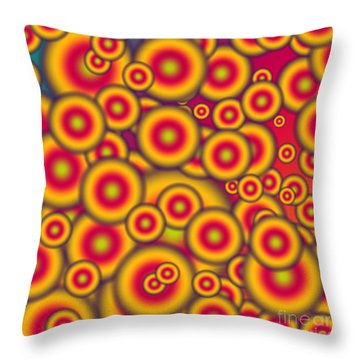 Jelly Donuts Invasion Throw Pillow by Gaspar Avila