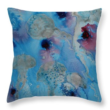 Jelly Fish Abstract Throw Pillow