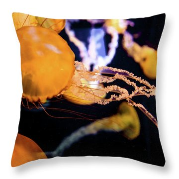 Jelly Storm Throw Pillow