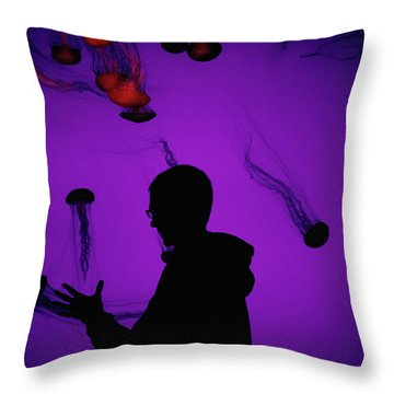 Jellyfish And I  Throw Pillow