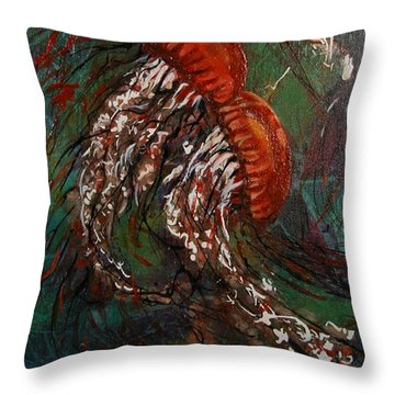 Jellyfish Dance Throw Pillow