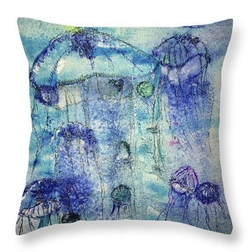 Jellyfish I Throw Pillow