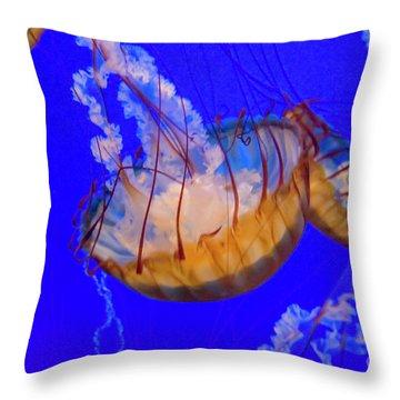 Jellyfish In The Monterey Aquarium California Usa 1 Throw Pillow