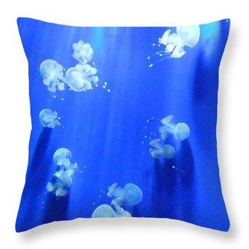 Jellyfish Throw Pillow by Lara Spinazzola