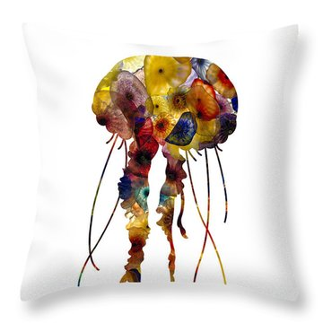 Throw Pillow featuring the photograph Jellyfish by Michael Colgate