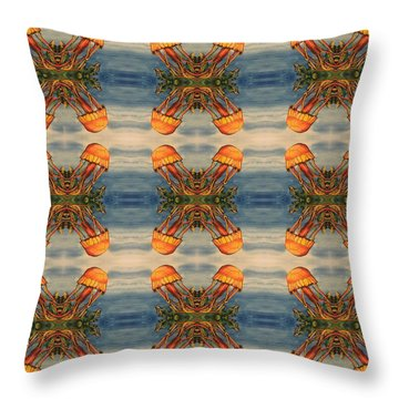 Jellyfish Pattern Throw Pillow