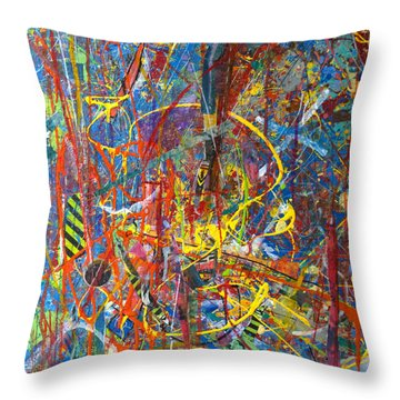 Throw Pillow featuring the painting Jellyfish Rebellion by Robert Anderson