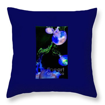 Throw Pillow featuring the photograph Jellylights by Vanessa Palomino