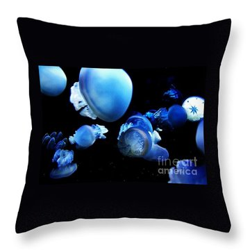 Throw Pillow featuring the photograph Jellyparty by Vanessa Palomino