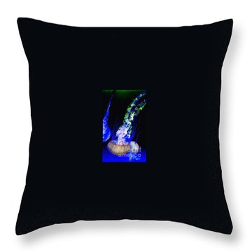 Throw Pillow featuring the photograph Jellypower by Vanessa Palomino