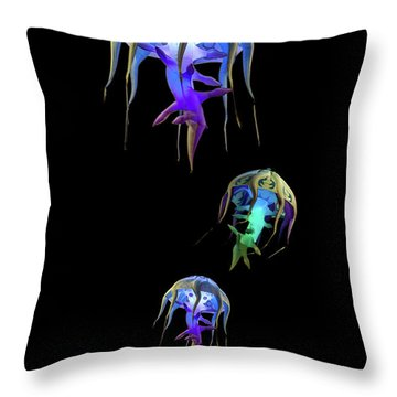 Jellys In Space Throw Pillow