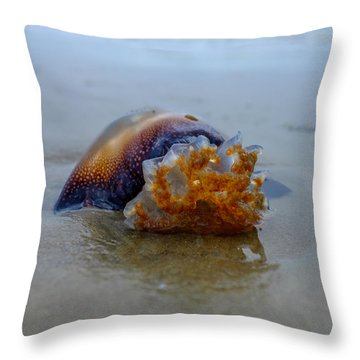 Jellys Last Swim Throw Pillow