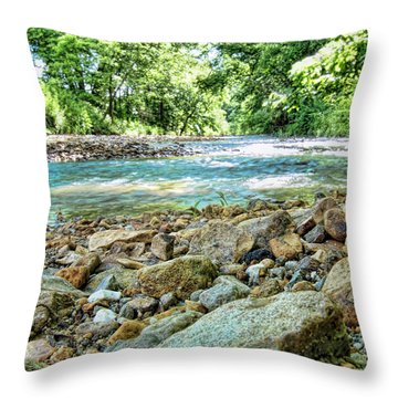 Throw Pillow featuring the photograph Jemerson Creek by Cricket Hackmann