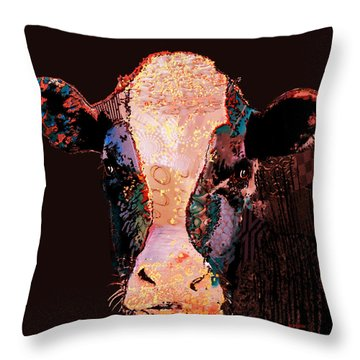 Jemima The Cow Throw Pillow