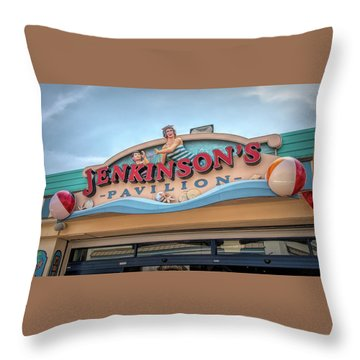 Throw Pillow featuring the photograph Jenkinson's Pavilion by Kristia Adams