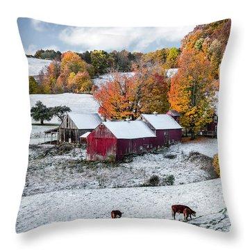 Jenne Farm, Reading, Vt Throw Pillow